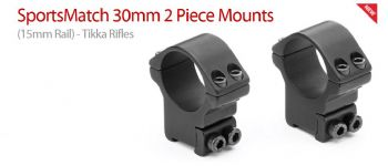 Sportsmatch HT073 30mm Tikka Brno High 2pc Mounts 15/17mm dovetail